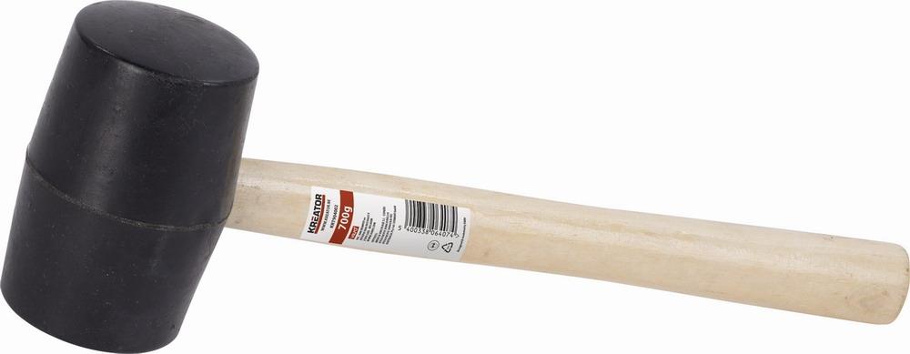KRT904001 - Gumová palice černá 450g - Dřevěná násada