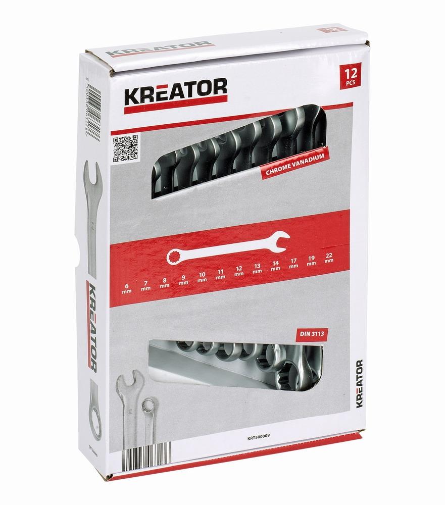 KRT500009 - Sada klíčů očko/otevřený 8-22mm 12ks