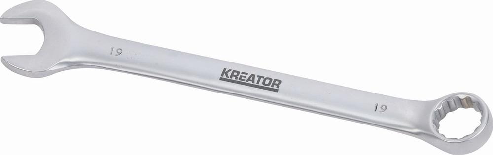 KRT501214 - Oboustranný klíč očko/otevřený 19 - 225mm