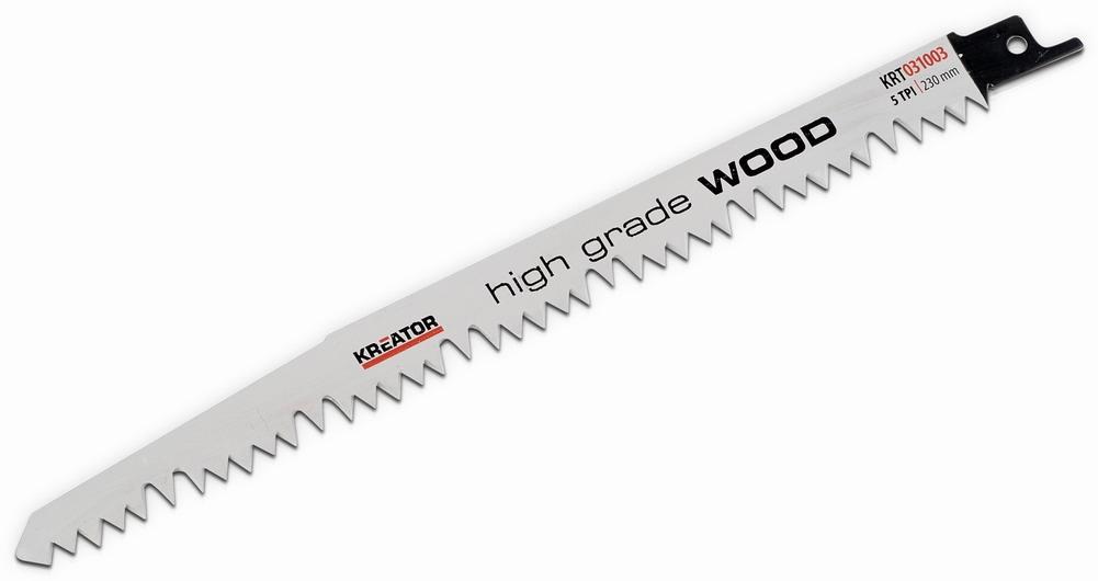 KRT031003 - 2 ks Pilový plátek pro ocasovou pilu na dřevo 230-5