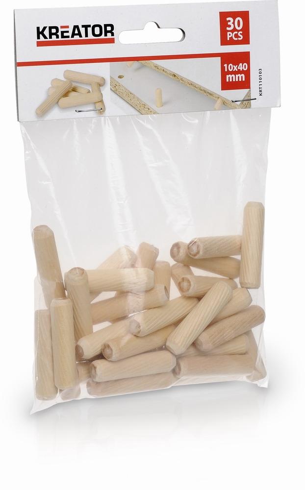 KRT110103 - Truhlářské kolíčky 10 x 40 mm (30 ks)