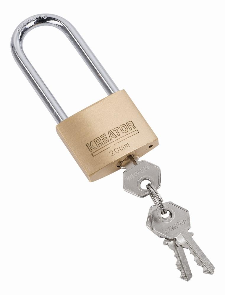 KRT557006 - Visací zámek prodloužený 20mm
