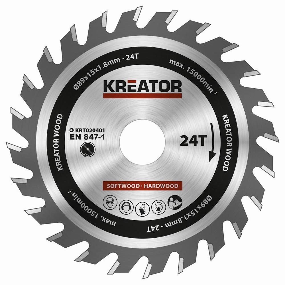 KRT020401 - Pilový kotouč na dřevo 89mm, 24T