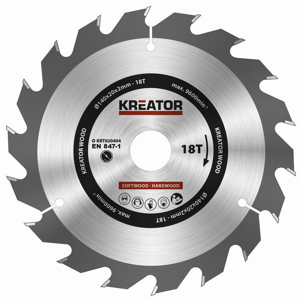 KRT020404 - Pilový kotouč na dřevo 140mm, 18T