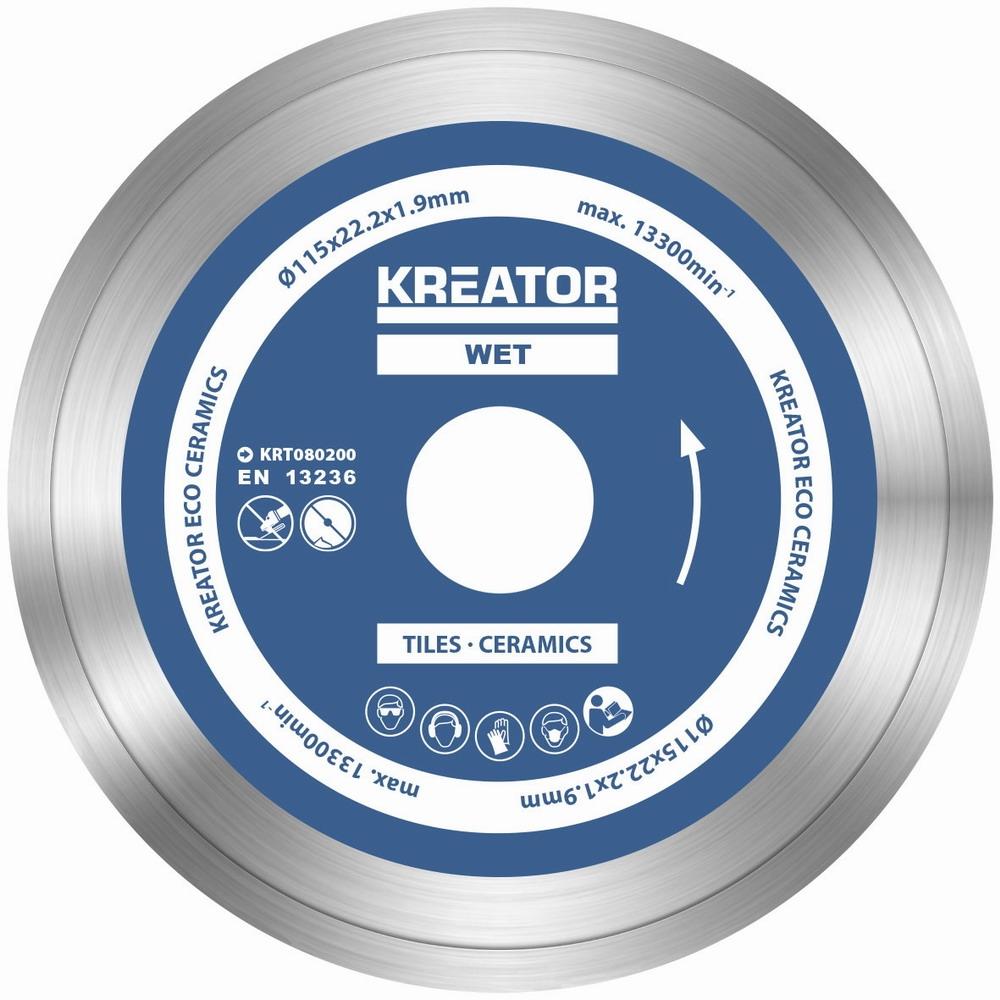 KRT080200 - Diamantový kotouč celoobvodový 115mm 3ks sada