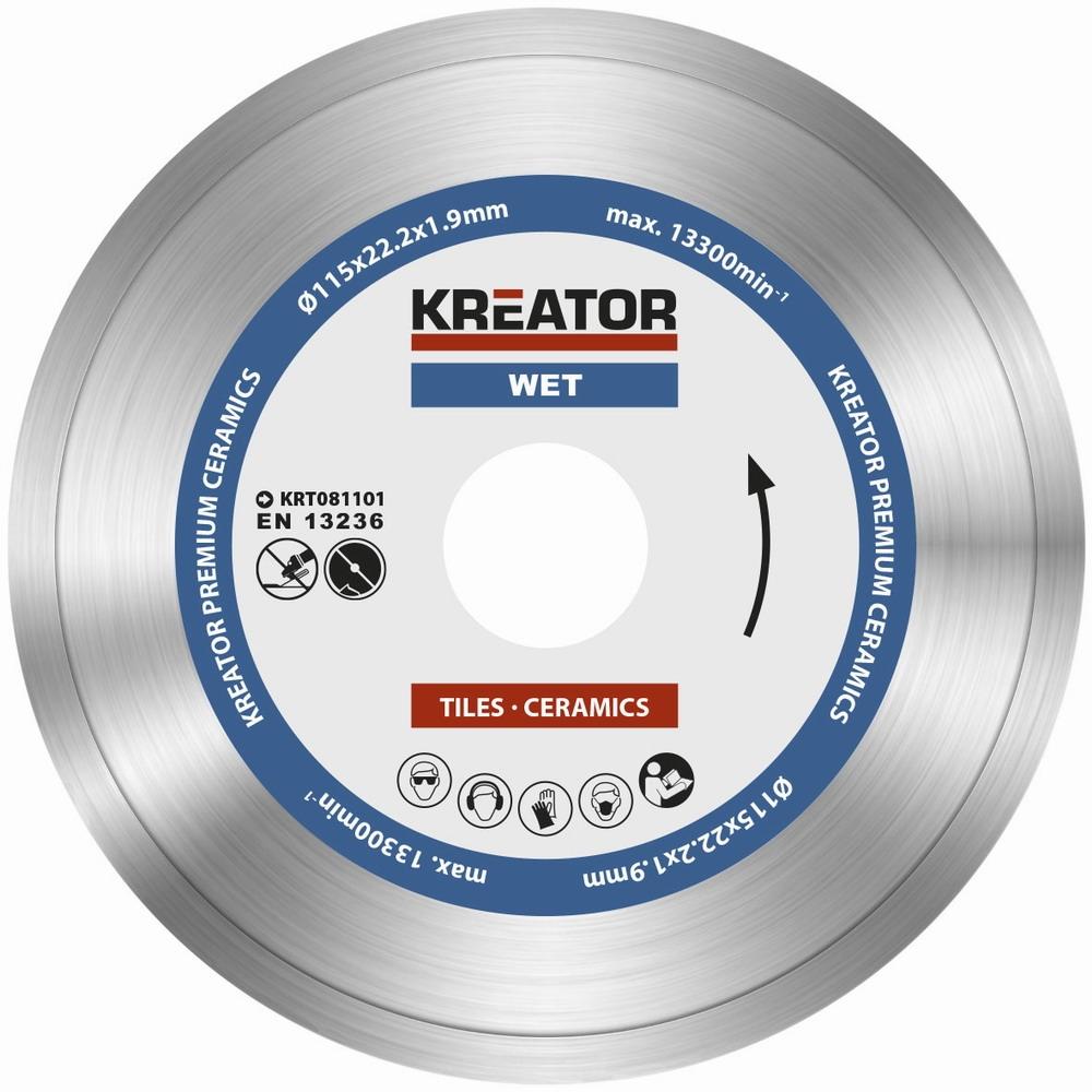 KRT081101 - Diamantový kotouč celoobvodový 115mm PREMIUM