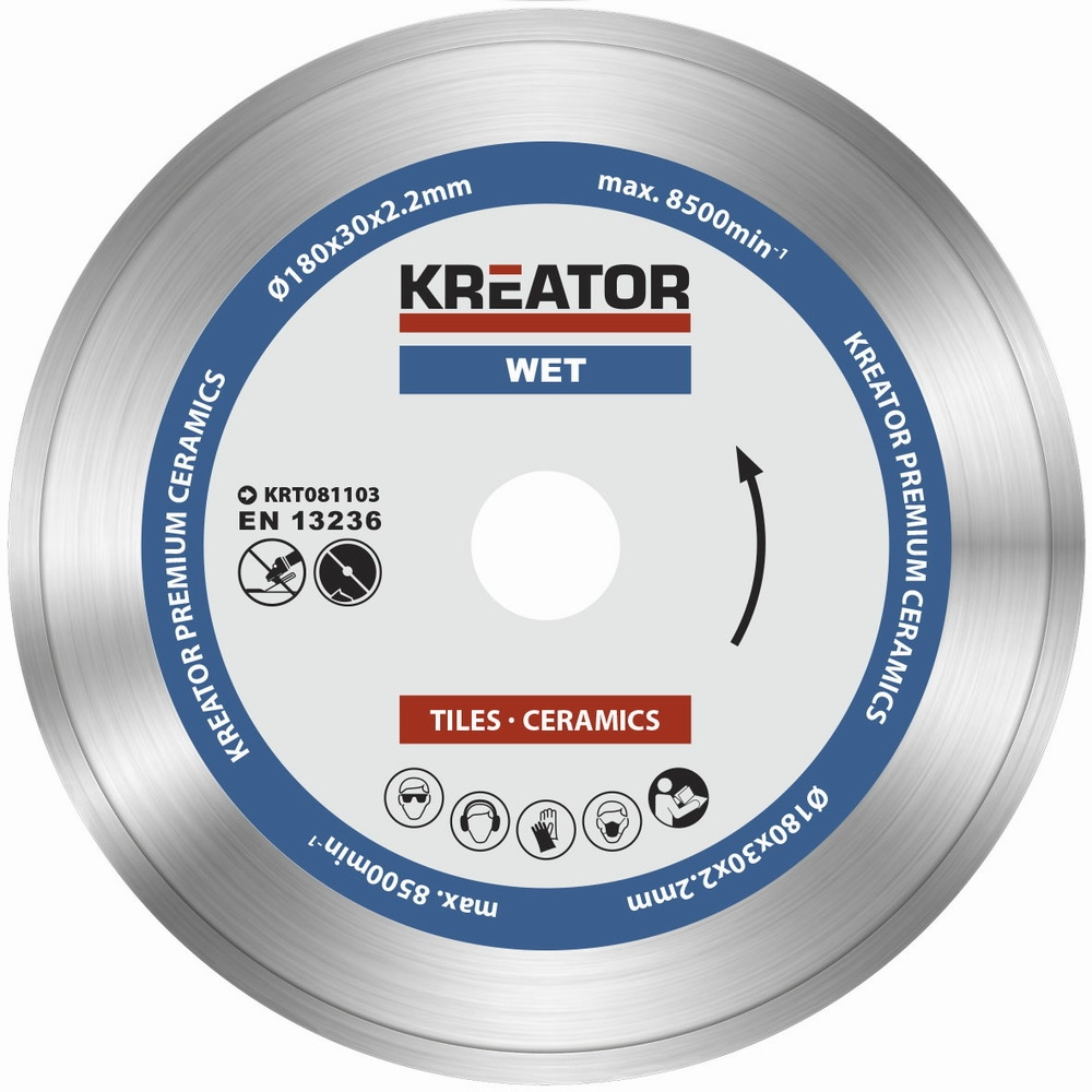 KRT081103 - Diamantový kotouč celoobvodový 180mm PREMIUM