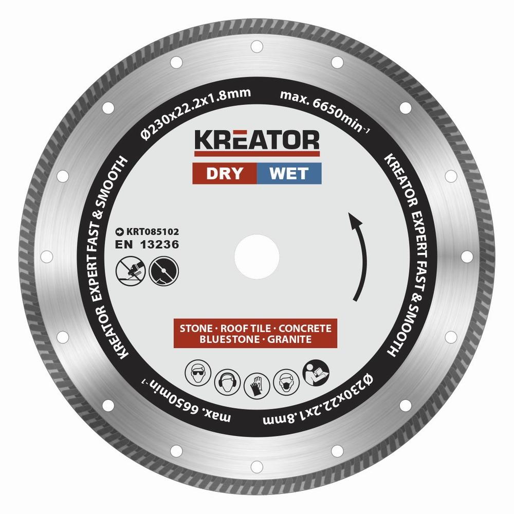 KRT085102 - Diamantový kotouč celoobvodový 230mm EXPERT TURBO