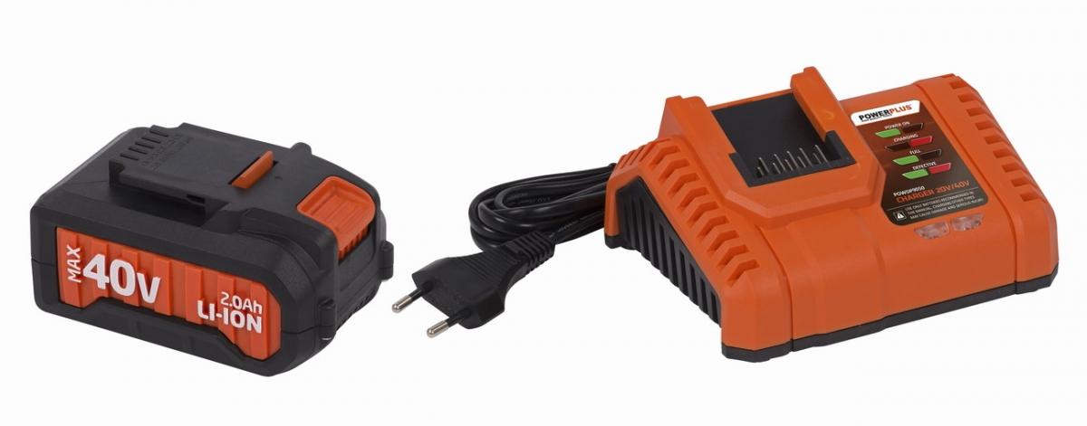 PowerPlus POWDP9065 Nabíječka 20V/40V + baterie 40V LI-ION 2,0Ah