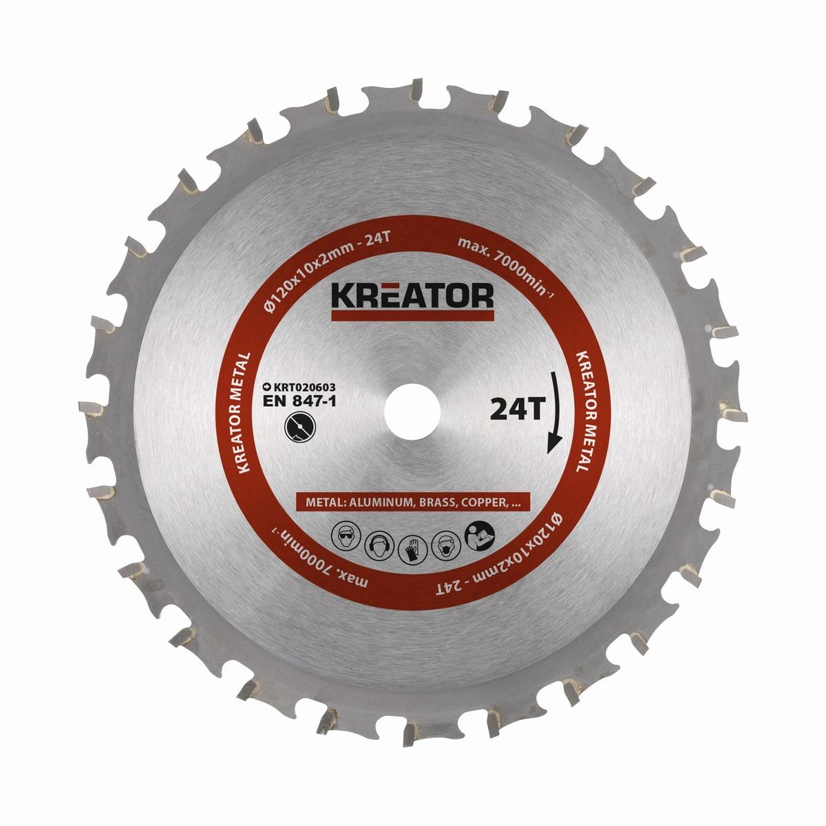 KRT020603 - Pilový kotouč na kov 120 mm, 24 Z
