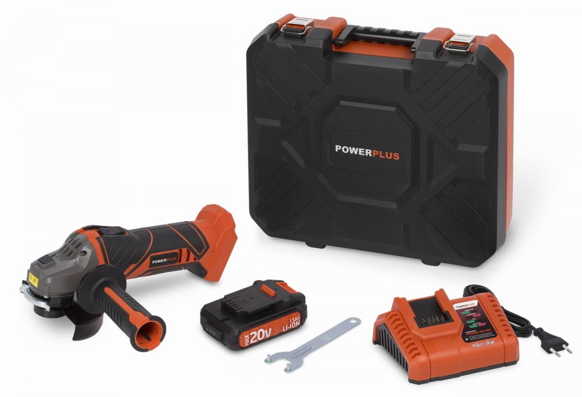 PowerPLus POWDP3515 Aku úhlová bruska 20V LI-ION