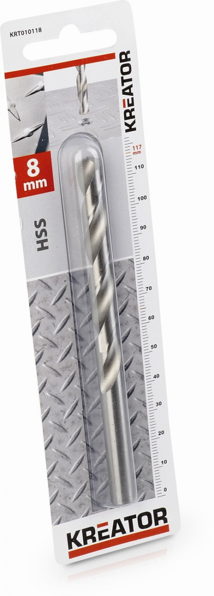 KRT010118 - HSS vrták do kovu 8x117 mm