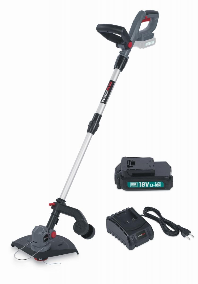 POWEBG7540SET AKU vyžínač 18V LI-ION 250mm  plus  nabíječka  plus  baterie 18V 1,5mAh POWERPLUS
