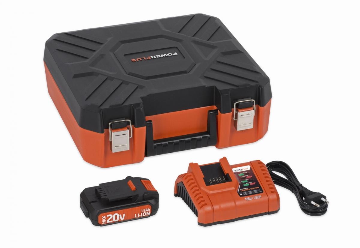 PowerPlus POWDP9066 Nabíječka 20V/40V  plus  Baterie 20V LI-ION 1,5Ah