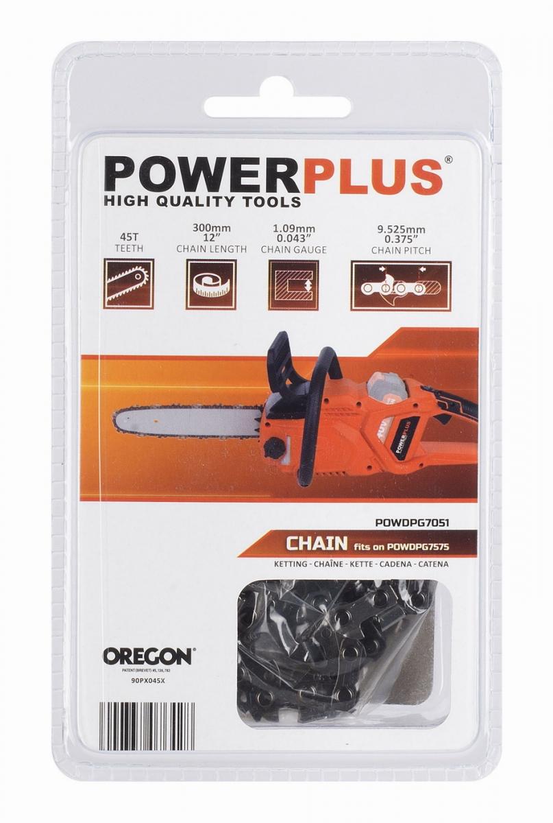 "PowerPlus POWDPG7051 Pilový řetěz pro POWDPG7575 12"" 300mm 45T OREGON"