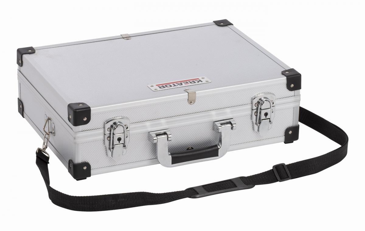 KRT640101S Hliníkový kufr 420x300x125mm stříbrný KREATOR