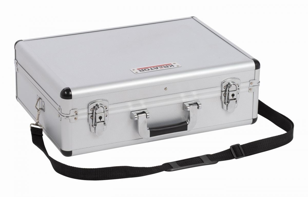 KRT640102S - Hliníkový kufr 460x330x155mm stříbrný