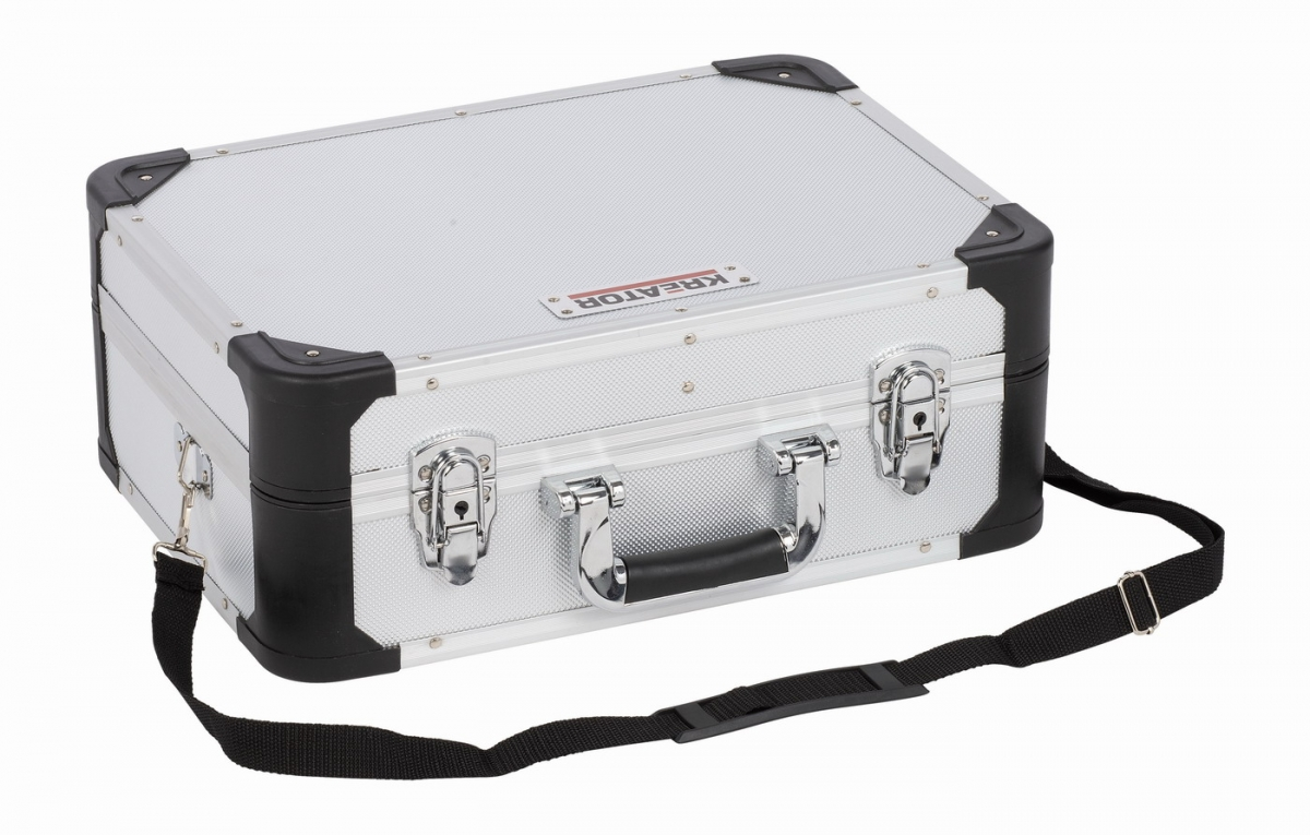 KRT640104S - Hliníkový kufr 433x313x163mm stříbrný