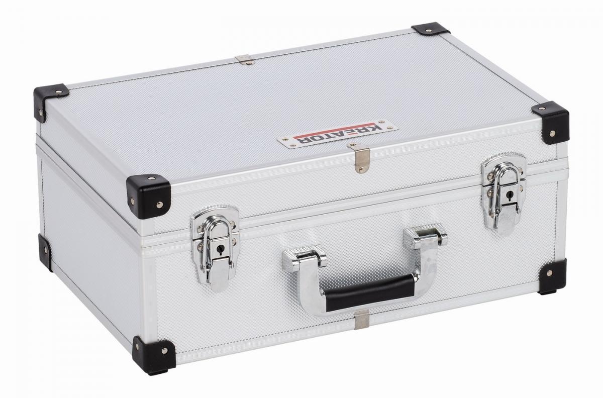 KRT640260S Hliníkový kufr na 60CD stříbrný KREATOR