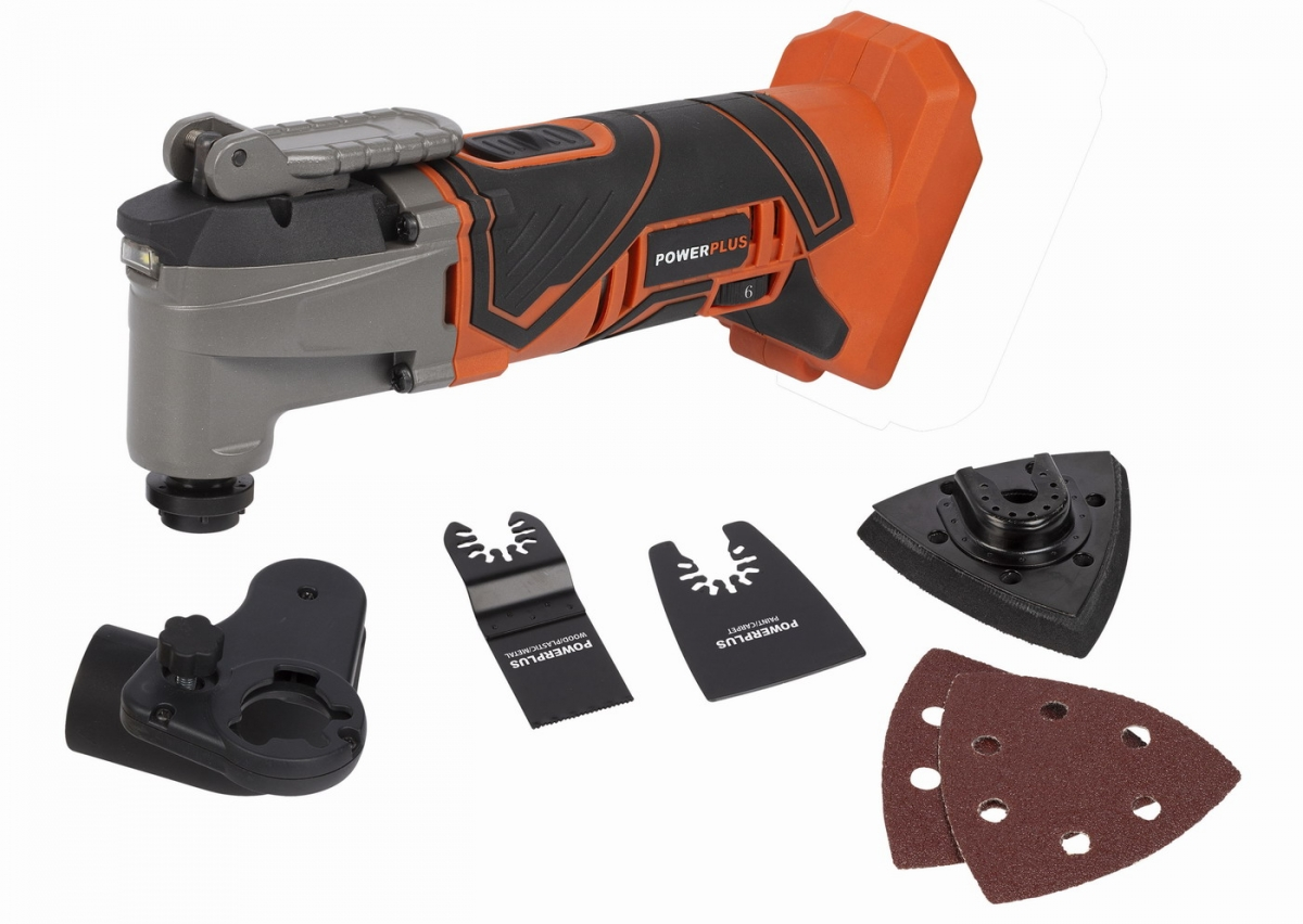 PowerPlus POWDP4060 Aku multitool oscilační bruska 20V (bez AKU)