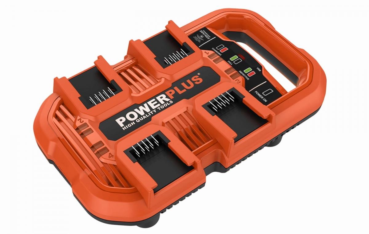 PowerPlus POWDP9055 Multi nabíječka na 4 baterie 20V/40V