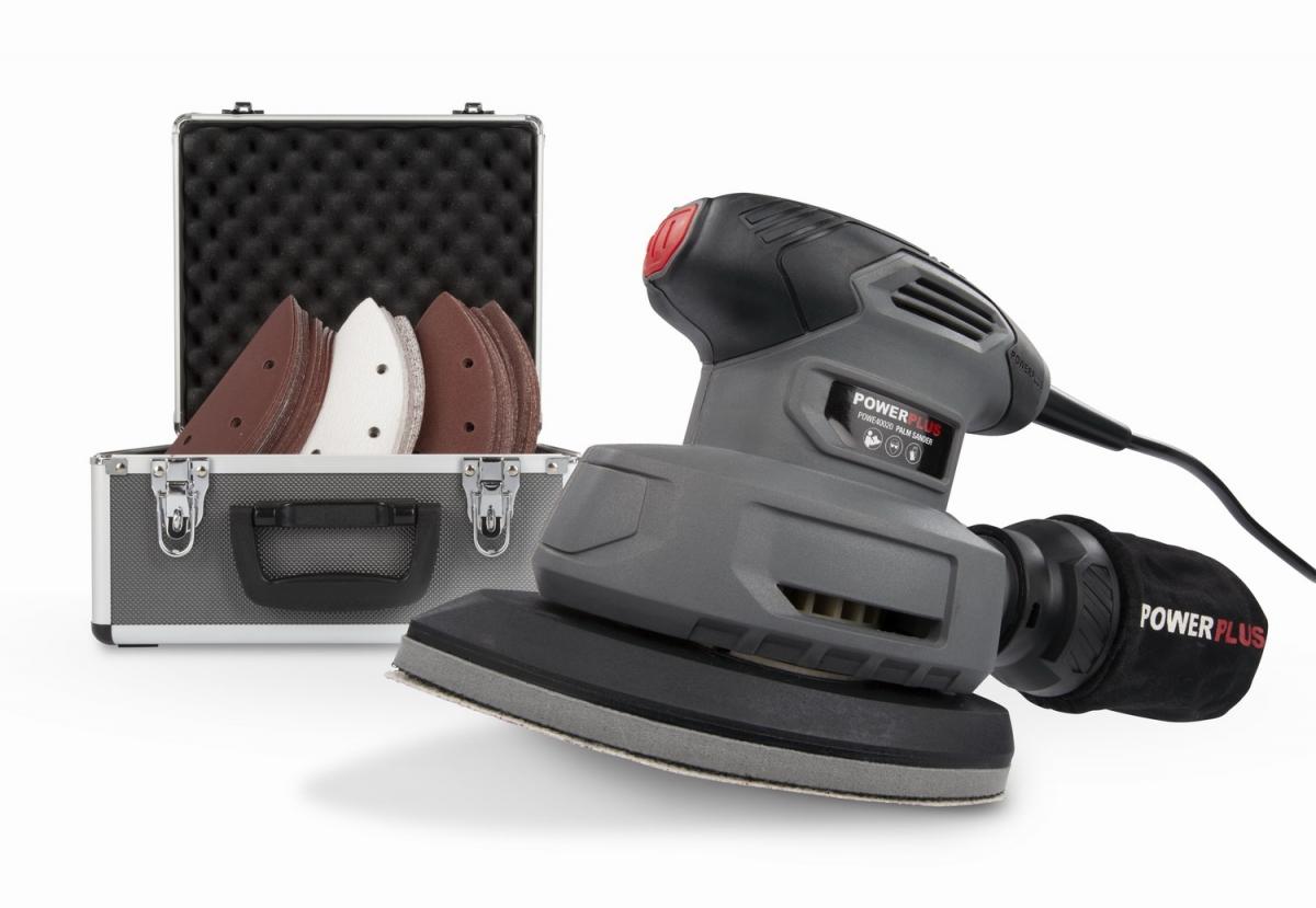 PowerPlus POWESET5 Vibrační mini delta bruska 140W SET