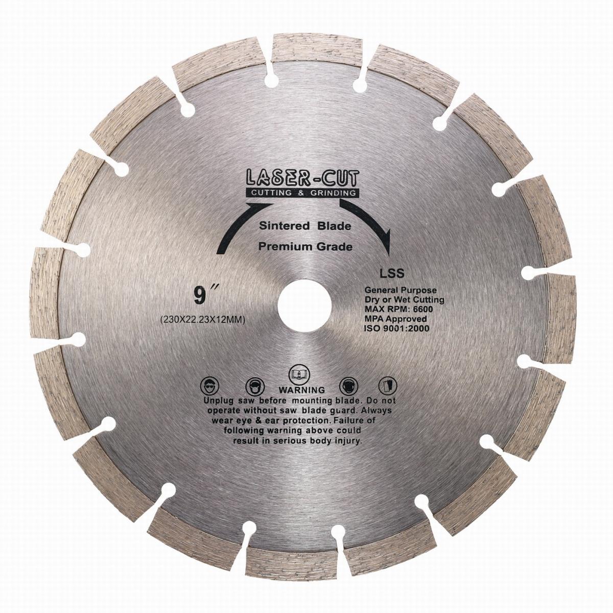 L00110 - Diamantový kotouč segmentový 230 x 22,23 x 12mm LSS