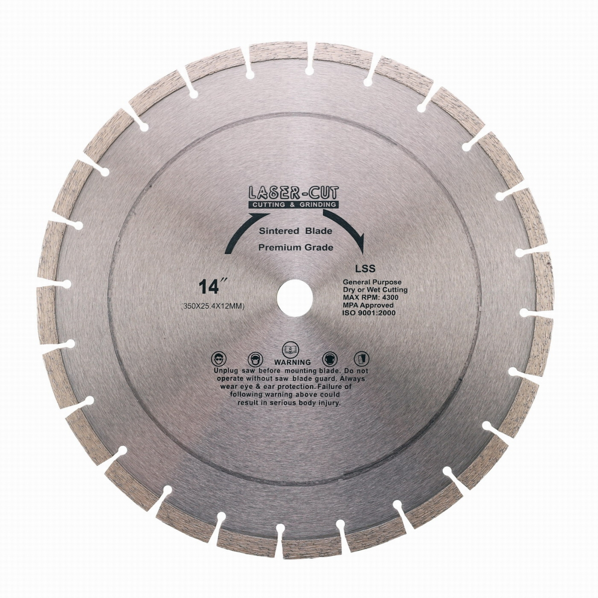 PowerPlus L001220 Diamantový kotouč segmentový 350 x 25,4 x 12mm LSS