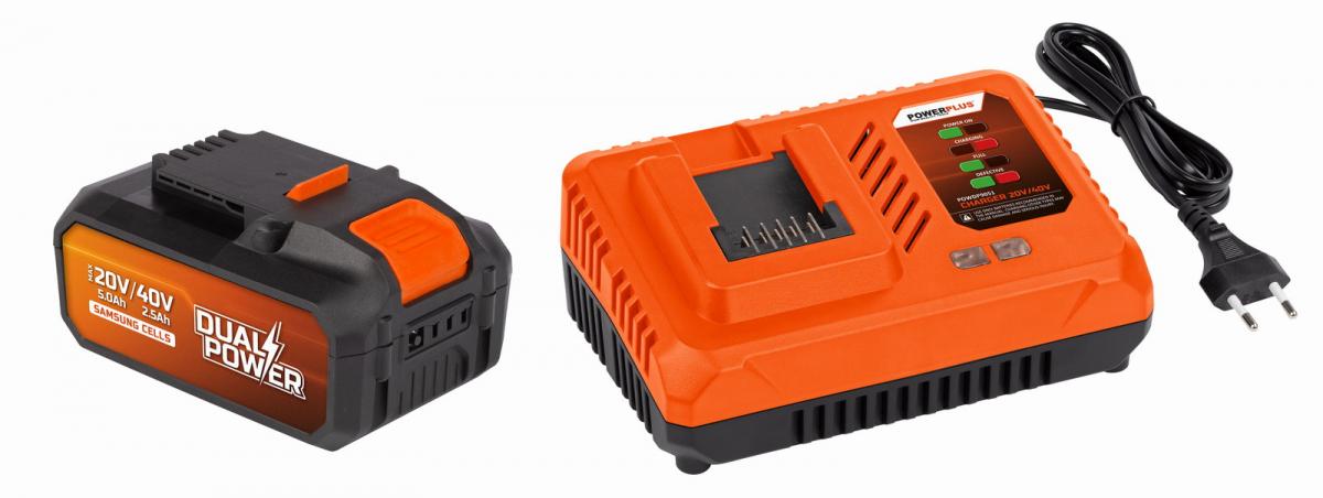 PowerPlus POWDP9064 Nabíječka 20V/40V + Baterie 40V LI