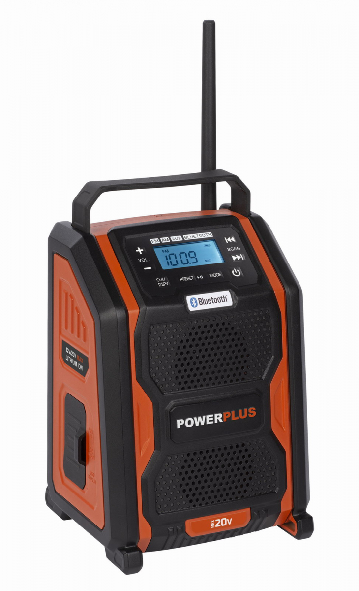 PowerPlus POWDP8060 Aku rádio 20V /220V (bez AKU)
