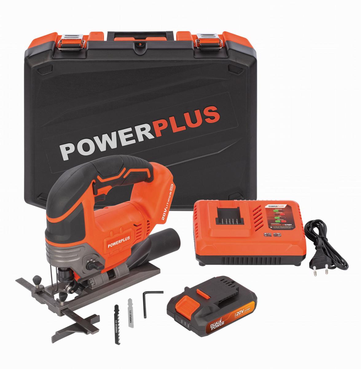 PowerPlus POWDP25310 Aku přímočará pila 20V/2,0Ah SET v kufru