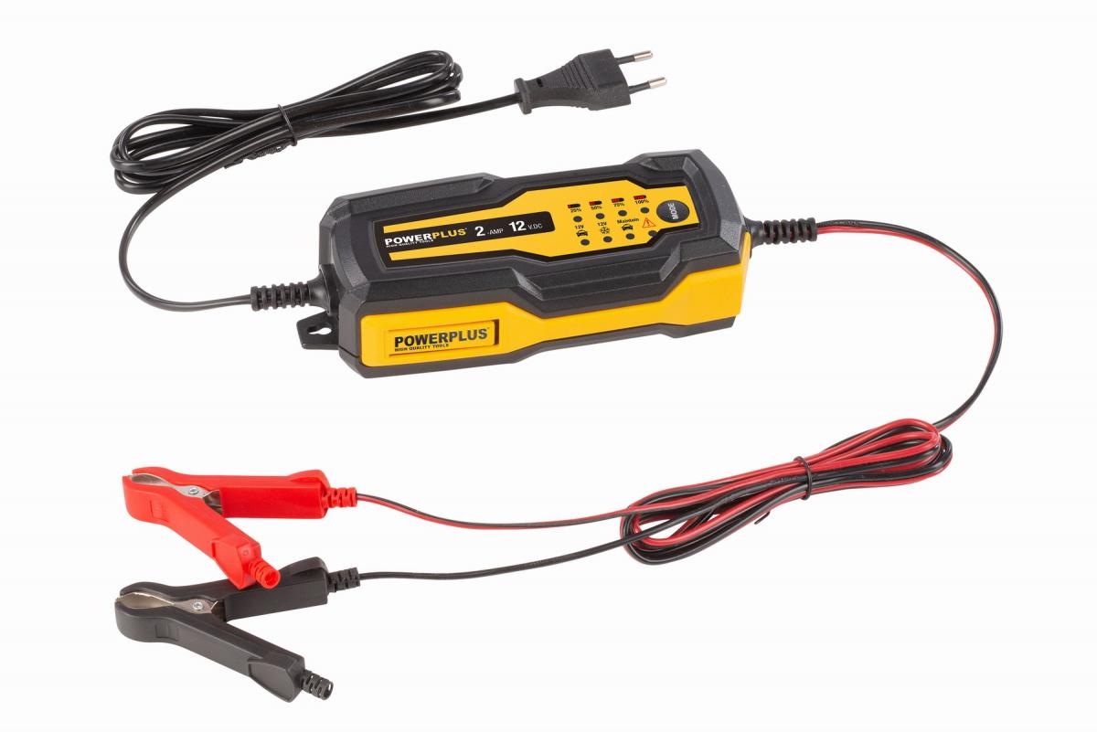 PowerPlus POWX4201 Automatická nabíječka baterií 35W / 2A / 60Ah